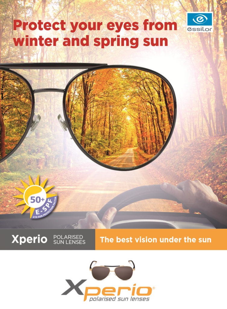 Xperio lenses - polarizing lenses - significantly reduce glare